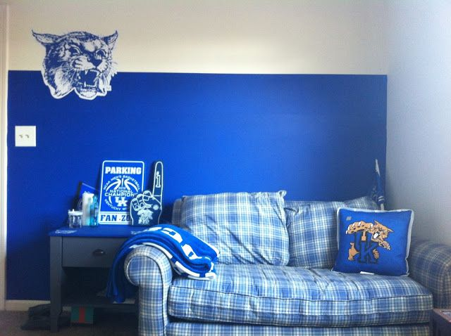 Uk University Of Kentucky Basketball Themed Room Bedroom