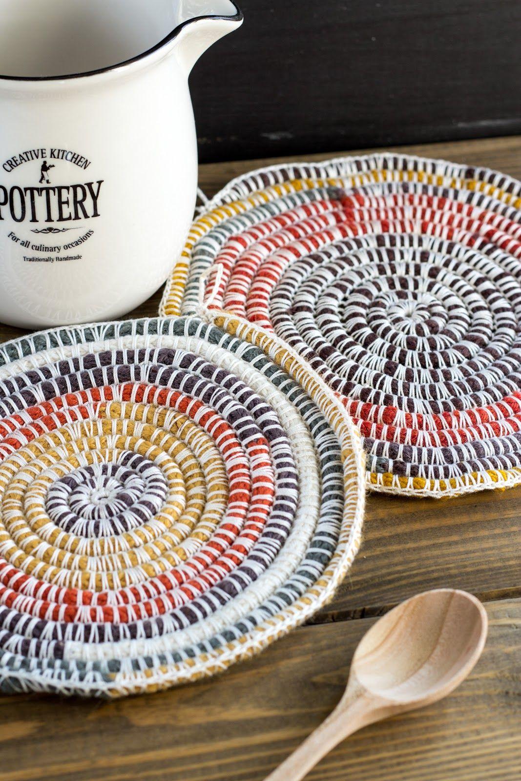 Diy Topflappen Aus Strickliesel Schnur Häkeln Crochet Project