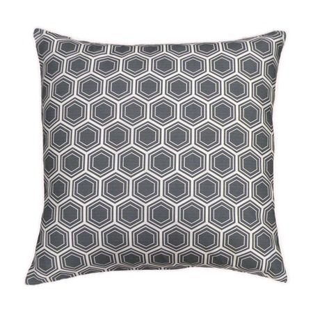 Honeycomb Pillow in Charcoal
