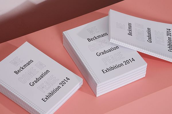 Beckmans Graduation Catalogue 2014 by Lina Forsgren, via Behance