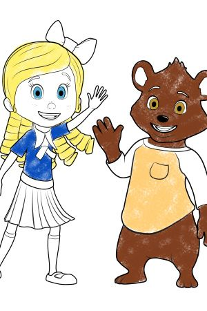 Goldie and Bear Colouring Coloring for Preschoolers Pinterest
