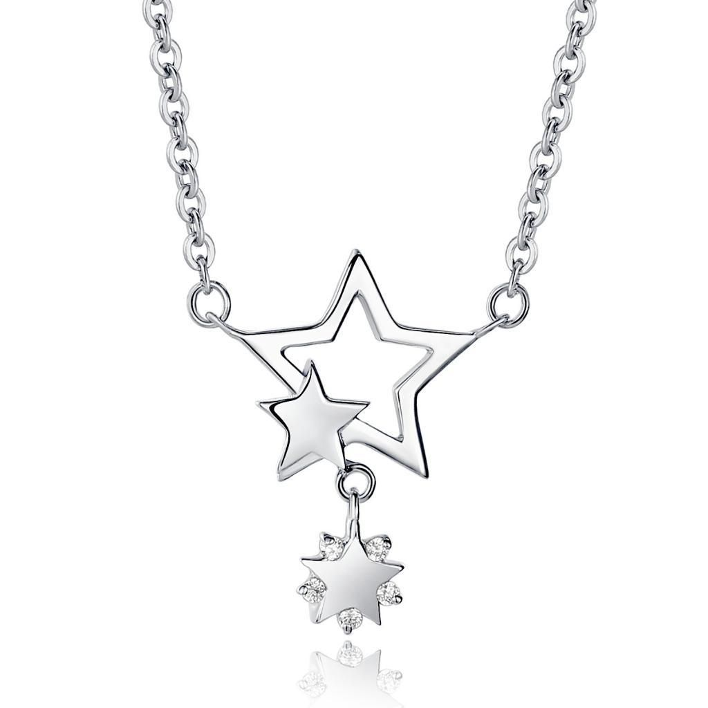 star necklace pin jewelry drop pendant hollow silver sterling shape