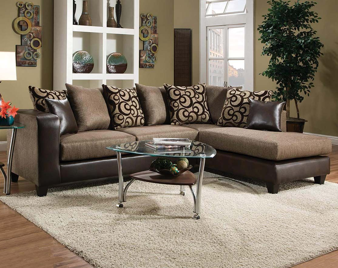 Object Espresso 2 Pc Sectional Sofa