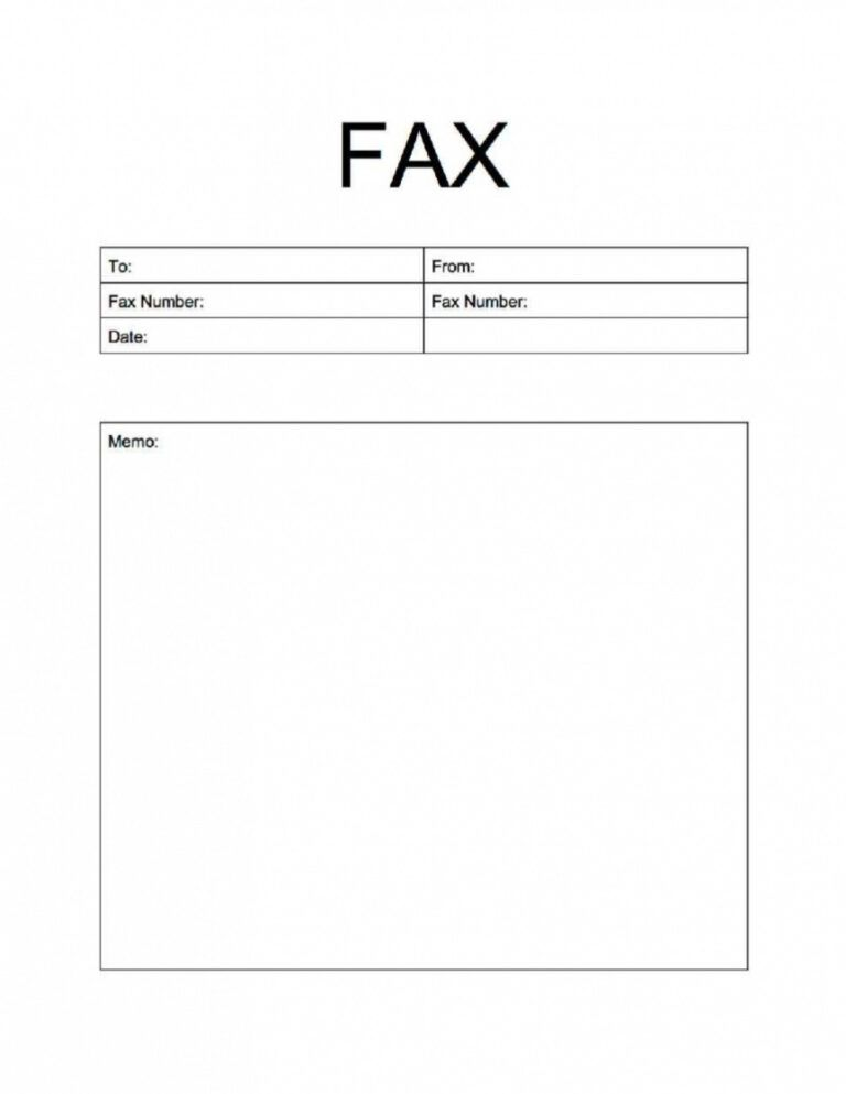 Basic Fax Cover Sheet Template Word 2016 Pdf Free for Fax ...