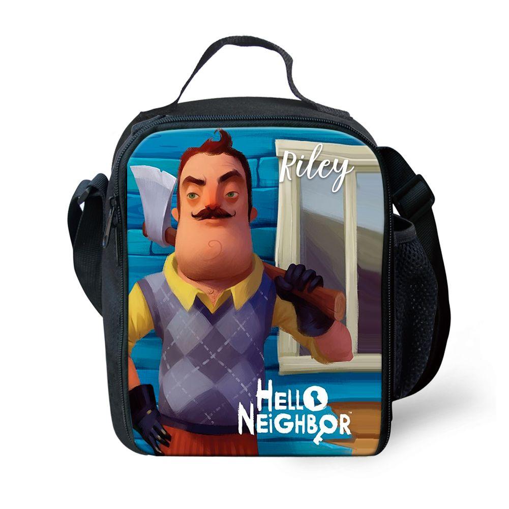 52cfa5e323d1 Hello Neighbor Lunch Bag - Custom Lunch Bag in 2019   Bags   Custom ...