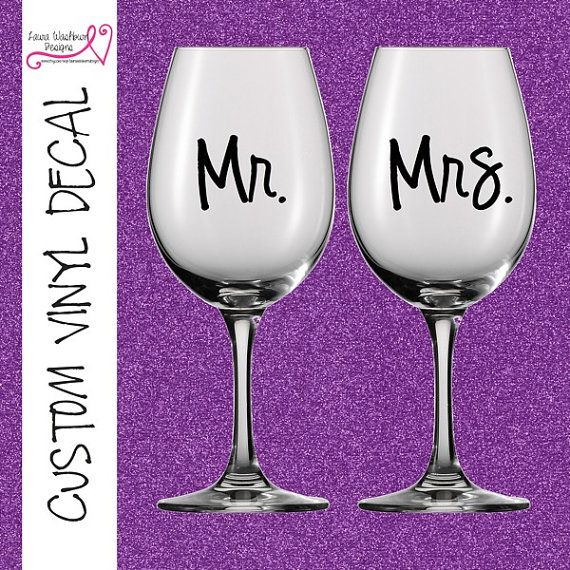 DIY Personalized Bridesmaid Vinyl Decals Make By WinylDesigns - Diy vinyl decals for wine glasses