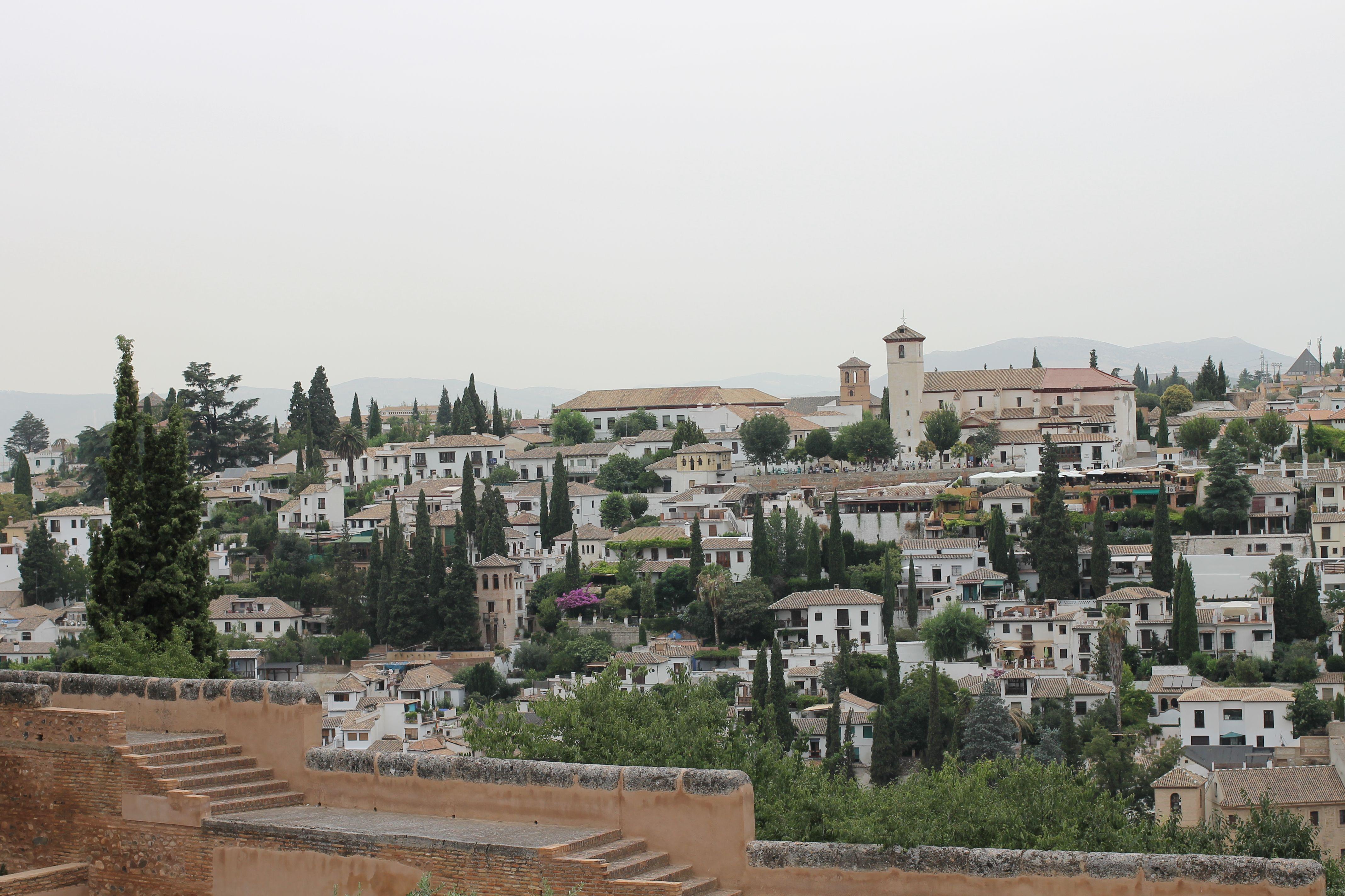 Barrio del Albaicin desde la Alhambra