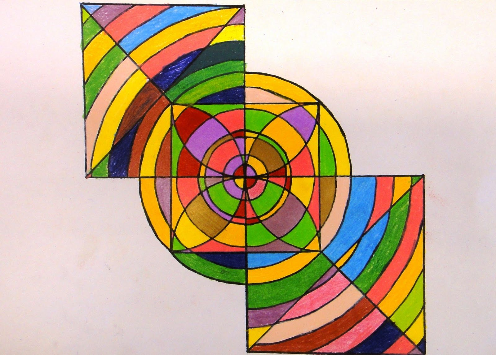 For The Love Of Art 6th Grade Frank Stella Protractor