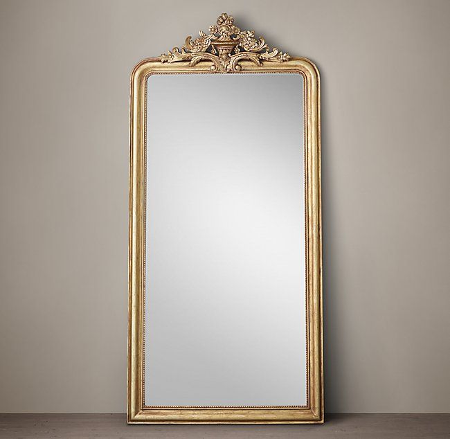 Louis Philippe Gilt Leaner Mirror 55 W X 2 D X 116 H 77 Lbs
