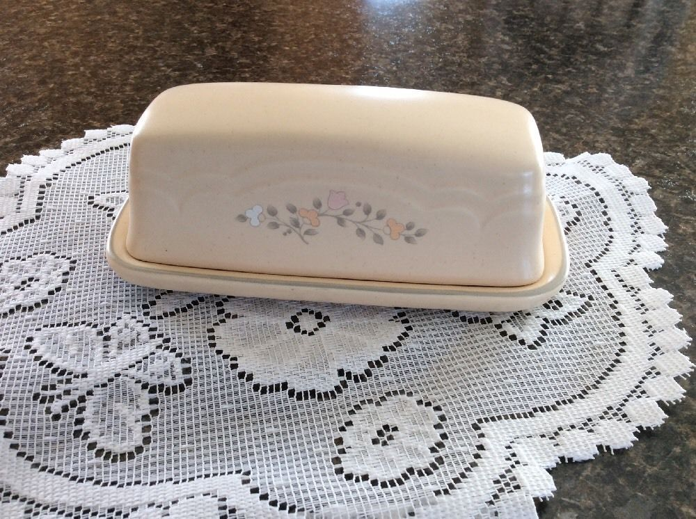 Pfaltzgraff Remembrance Butter Dish Retired Discontinued Piece ...