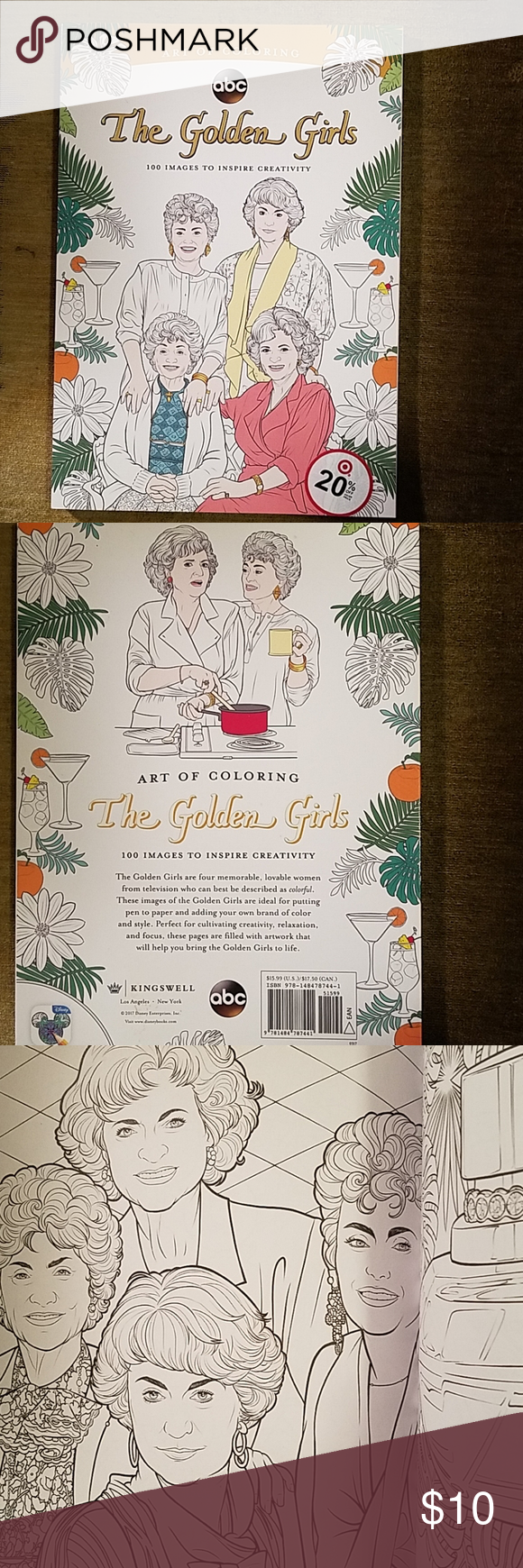 The Golden Girls Coloring Book 100 Images Coloring Books Golden Girls Color