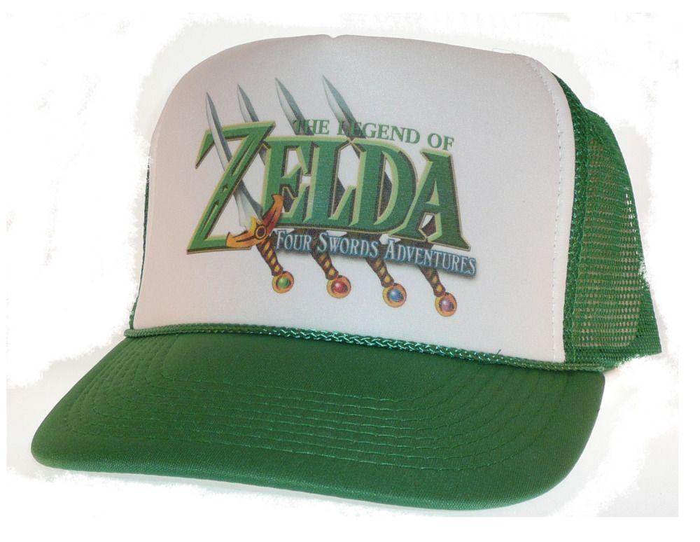 609cbe67 Vintage Zelda hat Trucker Hat Mesh Hat Free Shipping four swords green  nintendo #Unbranded #snapback