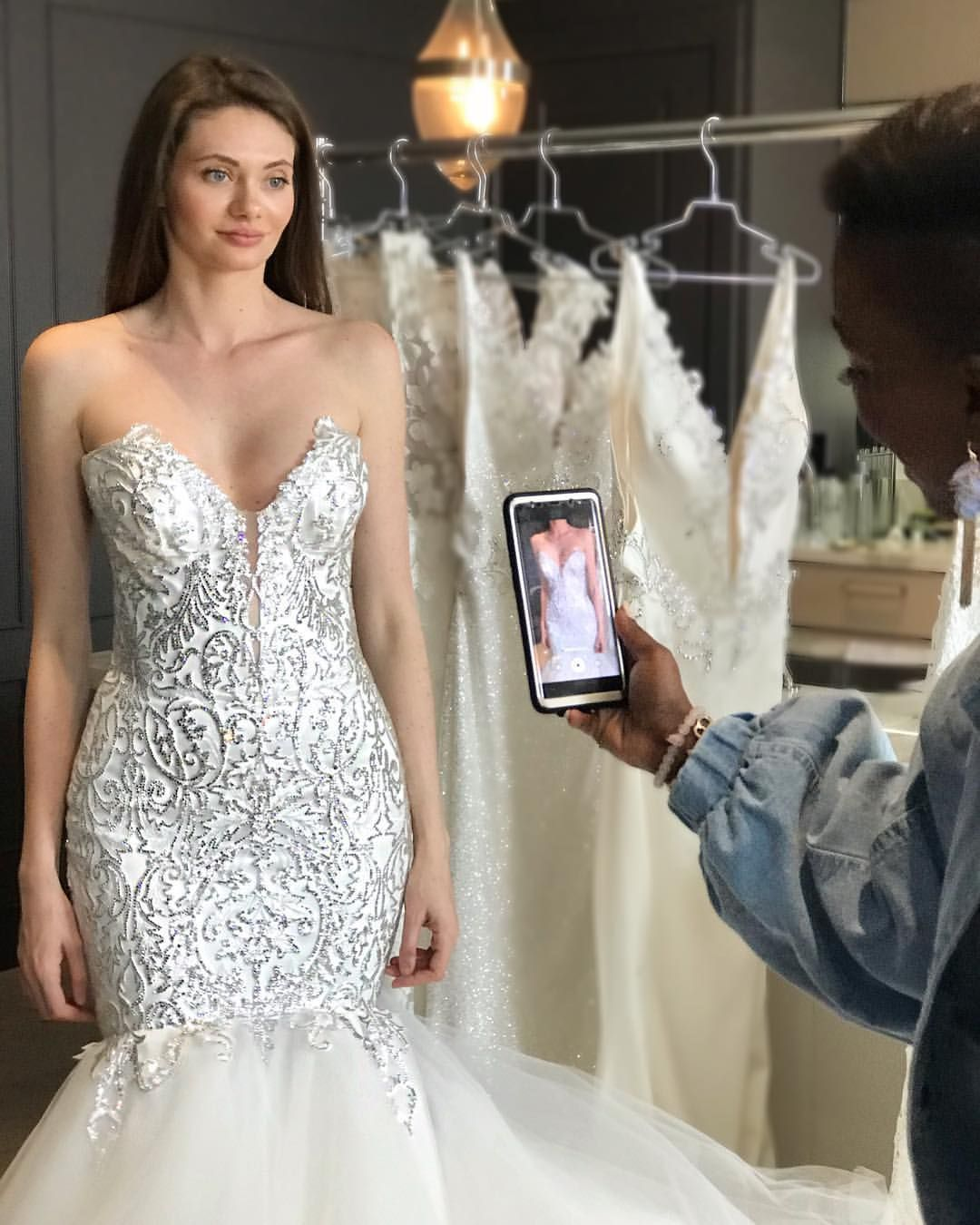 When You Just Have To Capture That Signature Pnina Tornai Sparkle Gow Amazing Wedding Dress Wedding Gowns Mermaid Wedding Dress Organza