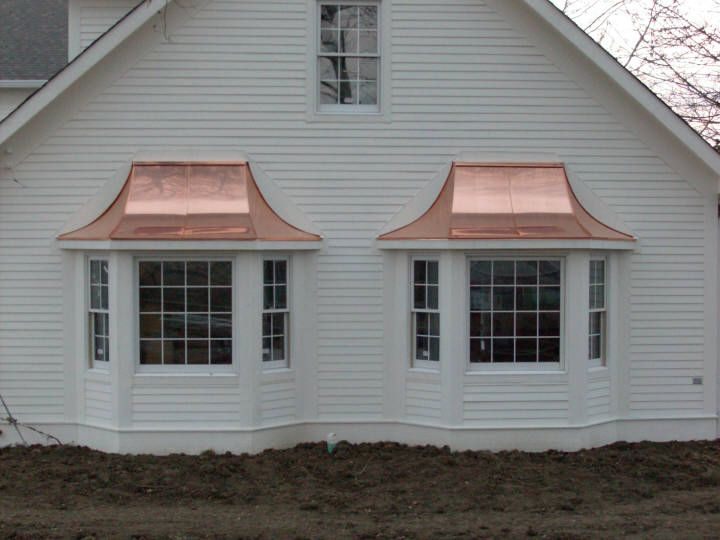 Custom Copper Hoods Bay Window Hood Copper Standing Seam Roofs Home Exterior Makeover Standing Seam House Front