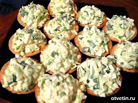 салат для тарталеток рецепт с фото