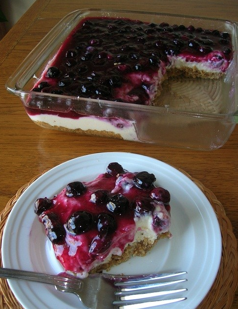 FRESH BLUEBERRY CHEESECAKE WITH HOMEMADE CRUST – Top Quick Recipes