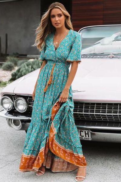 Katrin Boho Maxi Dress