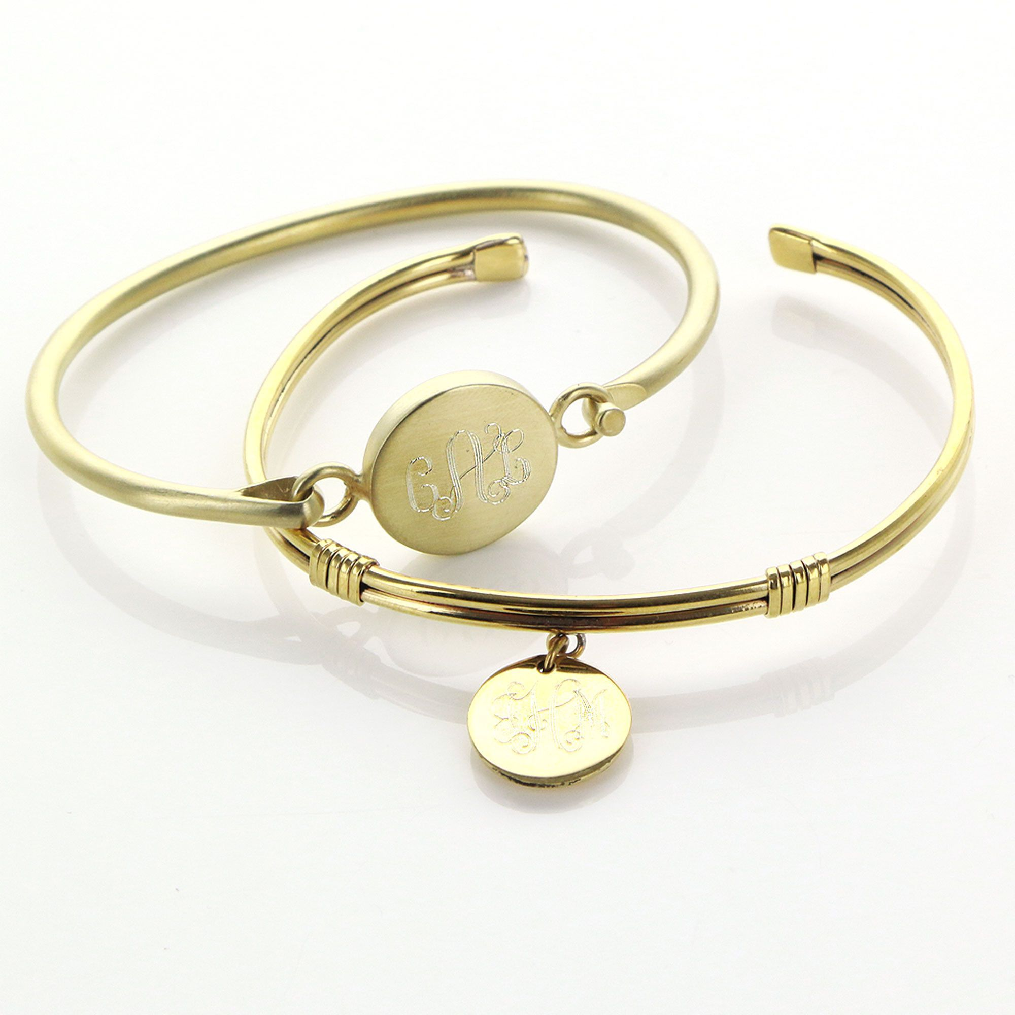 jewelry in lyst fin monogramme bangle gallery bangles bracelets metallic bracelet gold product laurent signature normal charm saint
