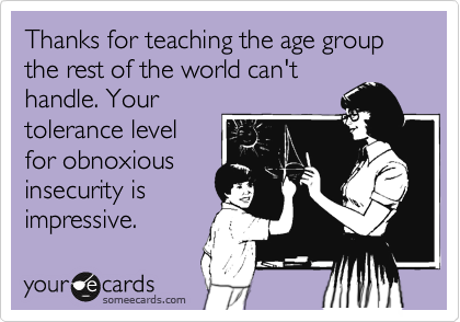 Oh Middle School...I was born to work with that age group! :)  The few, the proud, the folks who love middle schoolers.