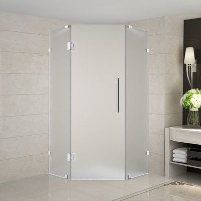 Aston Neoscape 38 X 38 X 72 Completely Frameless Neo Angle Hinged