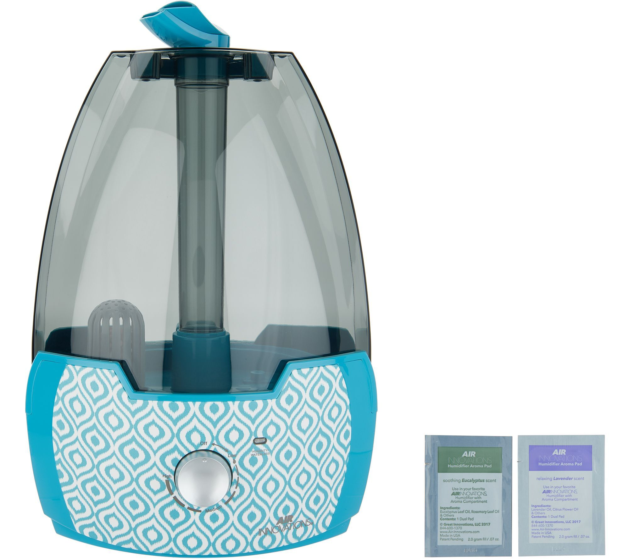 Air Innovations 1.6 Gallon Ultrasonic Humidifier with 2