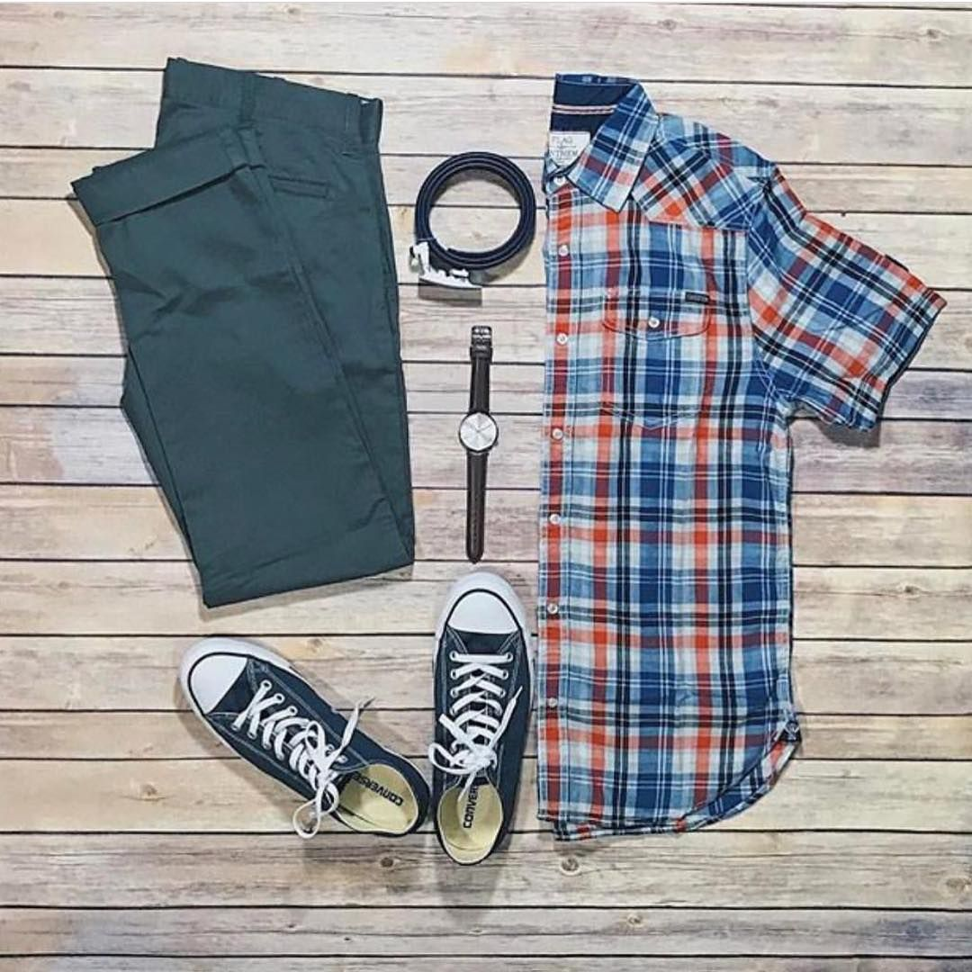 Men's outfits with flannel  Pin by Rul Ortiz on Modelos  Pinterest  Instagram grid Menus
