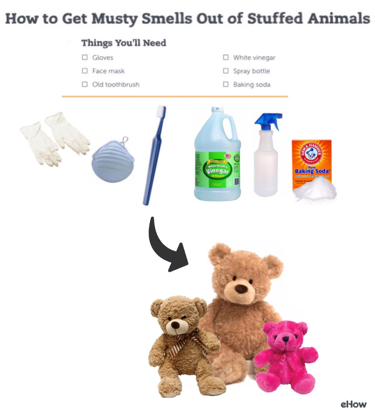 How To Get Musty Smells Out Of Stuffed Animals Hunker Clean Stuffed Animals Washing Stuffed Animals Cleaning Toys