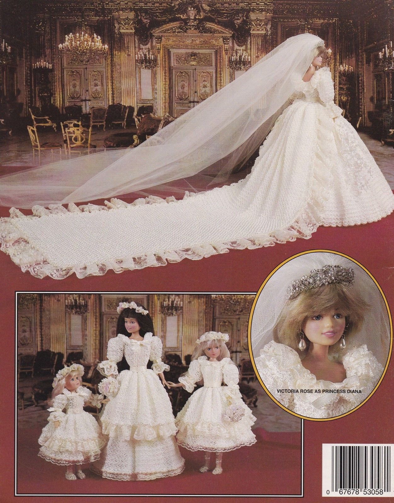 Princess Diana Her Bridesmaid Paradise Publication Vol 47 Crochet Pattern Htf Barbie Wedding Dress Princess Diana Dresses Barbie Dress [ 1600 x 1251 Pixel ]