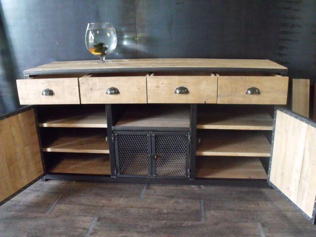 Meuble buffet bois de palette au style industriel  Meubles et