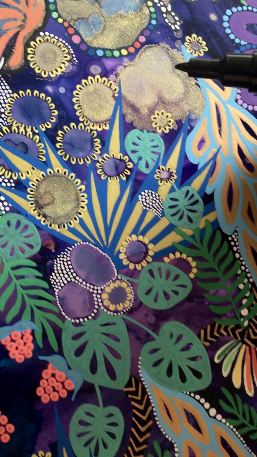 """Lauren Lewchuk - """"Purple Lotus� Process"""