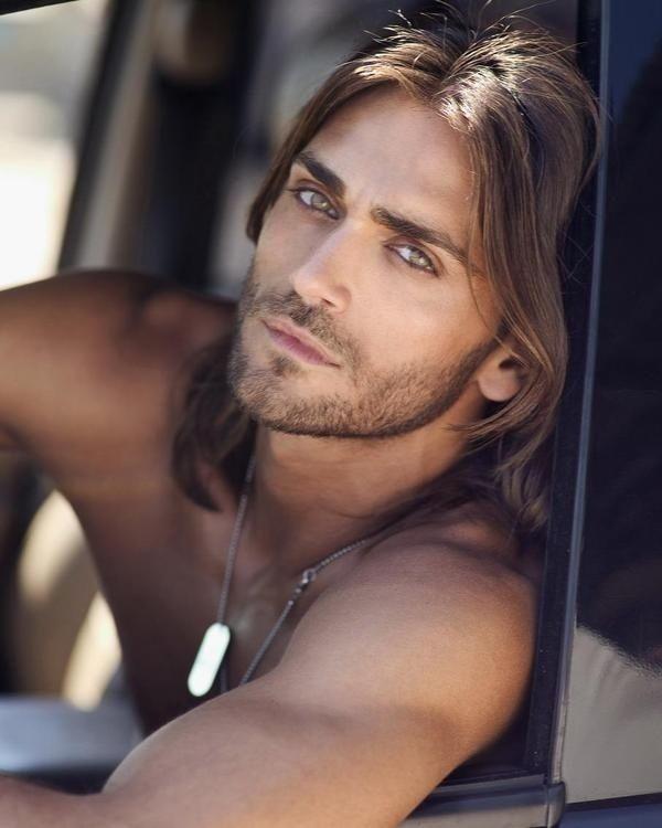 Risultati immagini per hot guy long hair