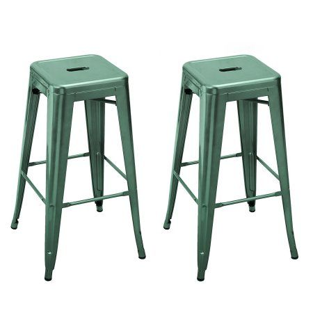 Adeco 30 inch Grey Green Metal Bar Stools (Set Of 2)  sc 1 st  Pinterest : green metal bar stools - islam-shia.org