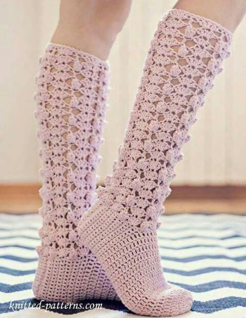 Pin By Lali Snchez On Medias Pinterest Crocheted Slippers And