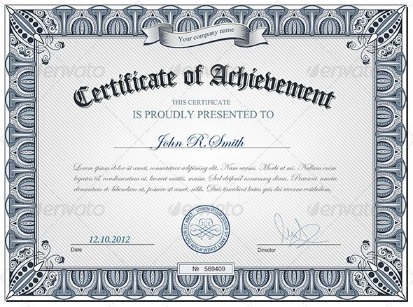 Detailed Certificate  Certificate Letterpresses And Template