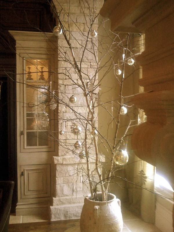 Christmas Tree Branch Ideas Wonderful Rustic Christmas - contemporary christmas decorations
