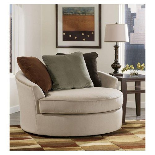 Mocha Oversized Swivel Chair By Ashley Furniture Love These