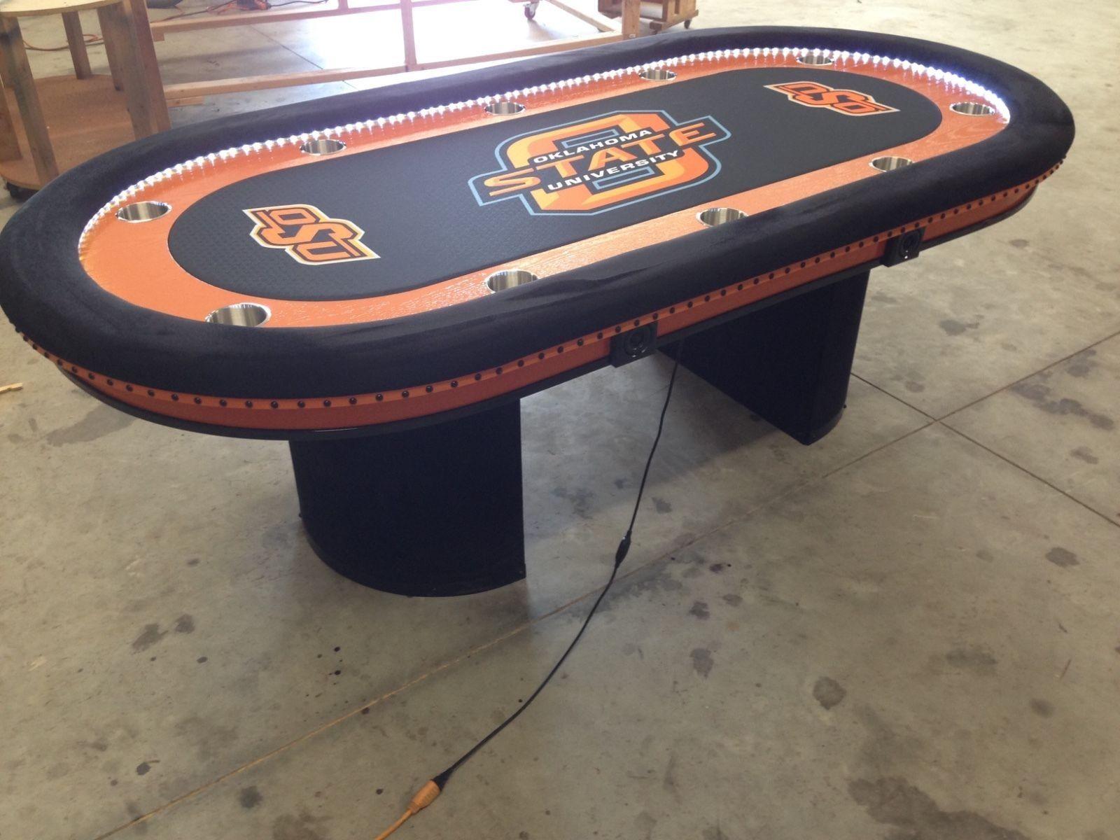 Oklahoma State Ncaa Poker Table Poker Table Custom
