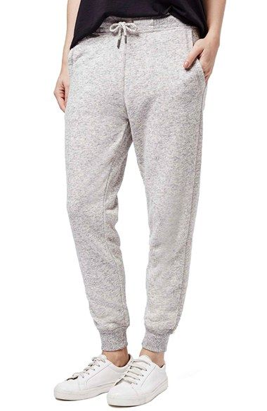 Free shipping and returns on Topshop 'Jayjay' Slim Fit Joggers (Petite) at Nordstrom.com. Sporty ribbed trims frame these marled cotton-blend joggers cut with a slouchy waist and gradually slimming legs.