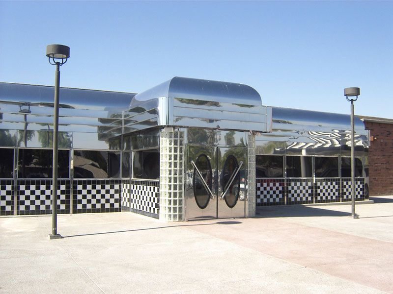 Dinermite Stainless Steel Diners Diner House Styles American Diner