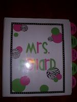 Teacher Organization Binder (and other cute ideas on this website!)
