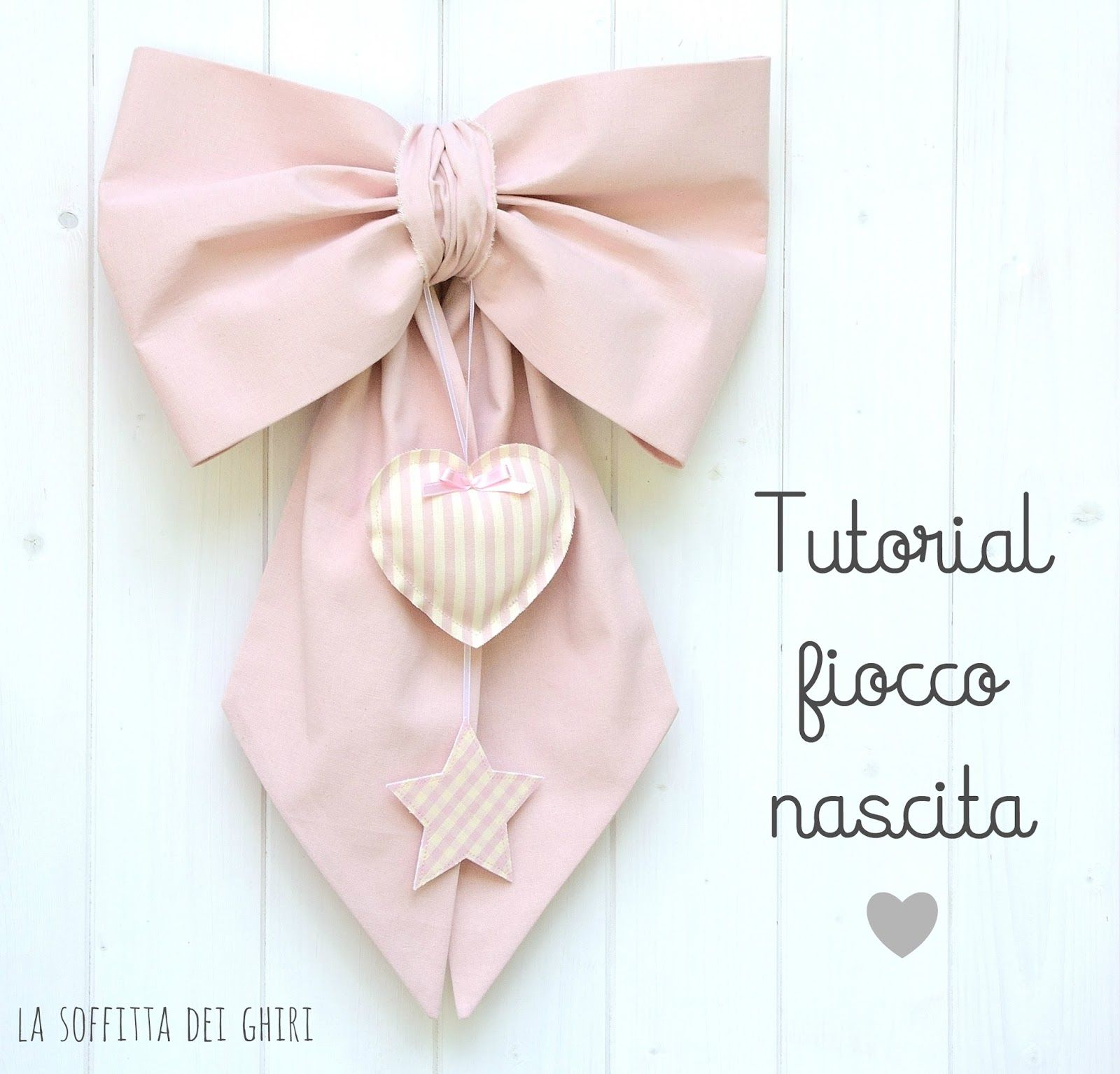Tutorial fiocco nascita tutorial fiocchi neonato for Tutorial fermaporta di stoffa