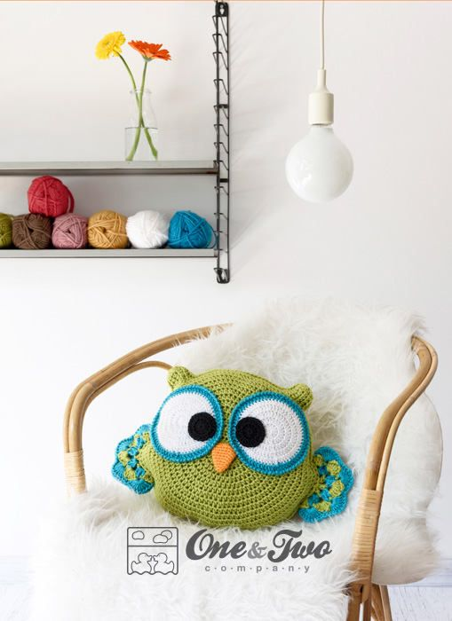Ollie the Owl Pillow - PDF Crochet Pattern - Instant Download ...