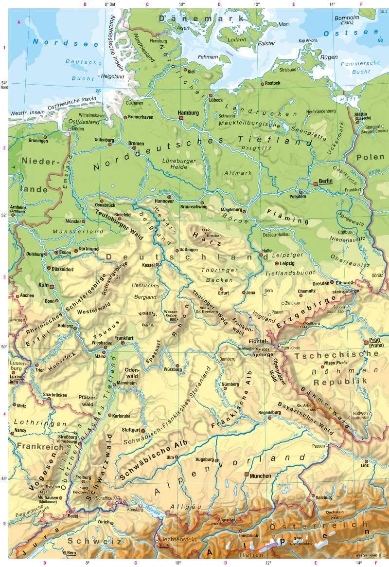 Diercke Weltatlas Kartenansicht Deutschland Physische Karte 978 3 14 100800 5 19 2 1 In 2020 Diercke Weltatlas Landkarte Deutschland Karte Deutschland