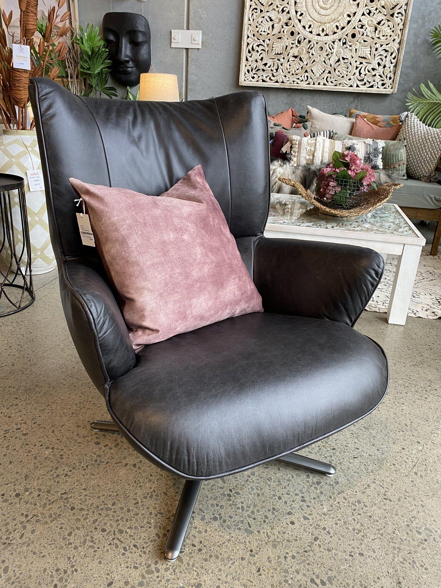 Pablo Swivel Chair Leather Loft Furniture New Zealand In 2020 Leather Loft Chair Swivel Chair