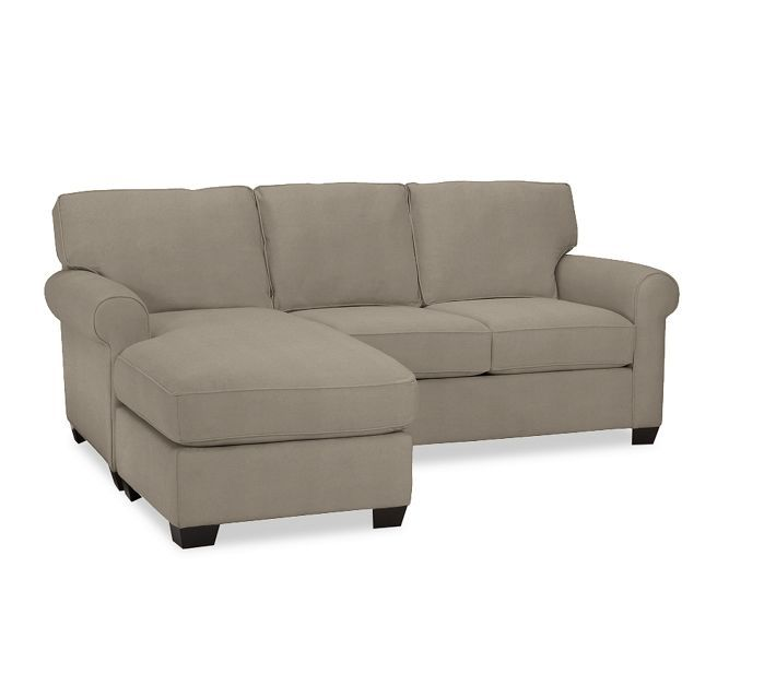 Pottery Barn Buchanan Sofa With Chaise Polyester Wrapped Cushions