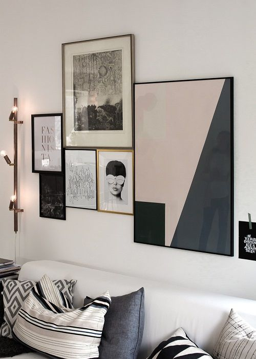 Perfect An Interesting Concept   A Salon Style Gallery Wall With No Space Between  Each Piece. It Certainly Creates A Modern Look And Allows For More Pieces  To Be ...