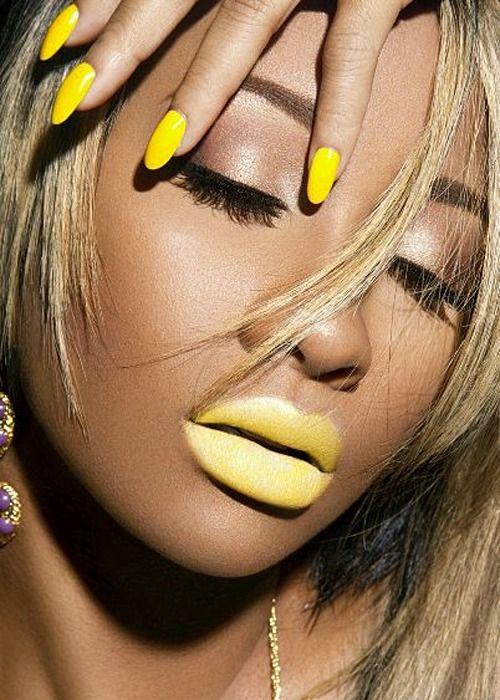 fleuryrosenails (With images) | Yellow lipstick, Yellow makeup, Makeup
