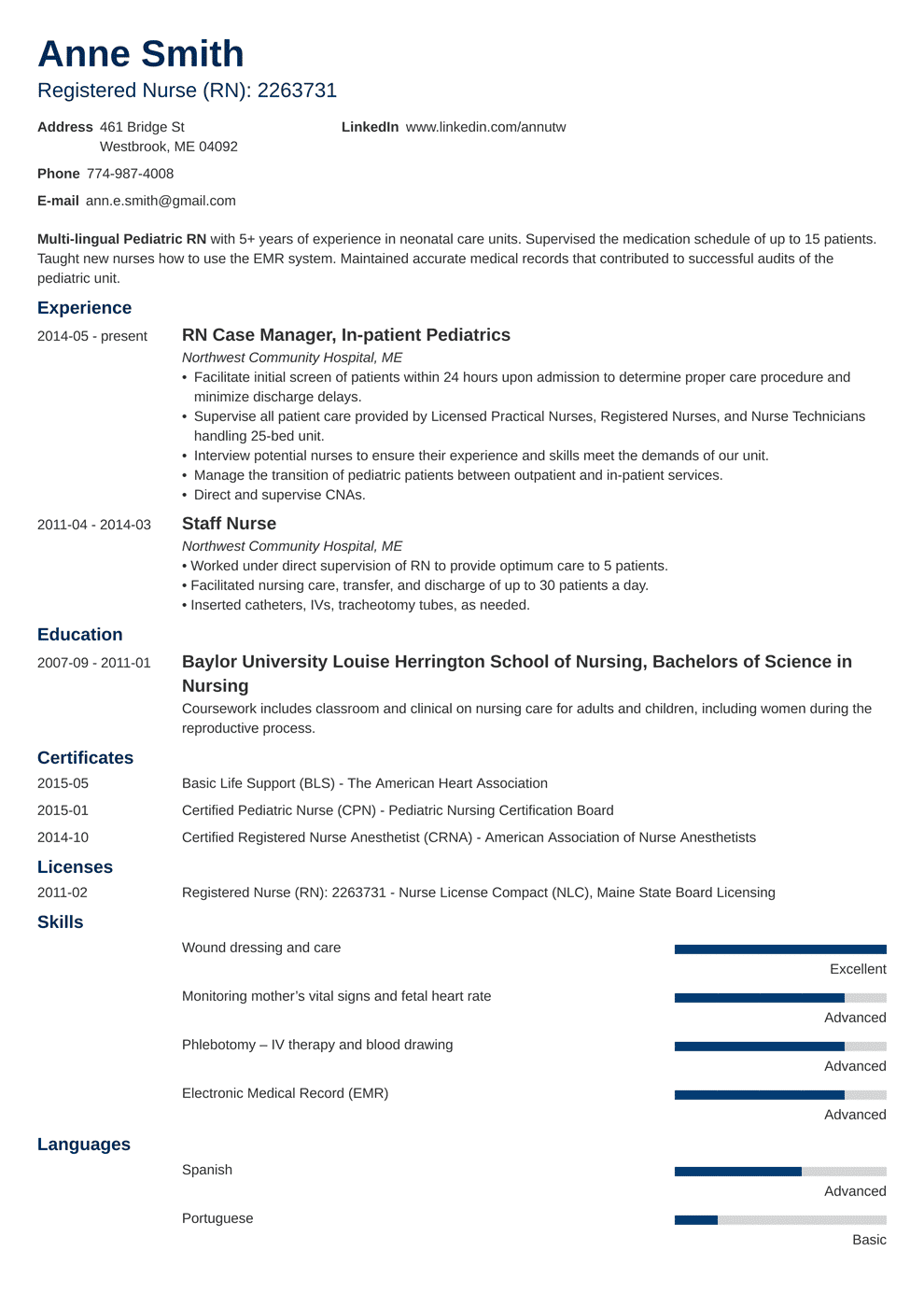 nursing resume template minimo in 2020 Nursing resume