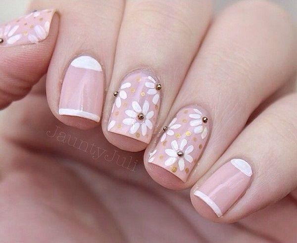 Unas Decoradas De Rosa Pink Nail Art Decoracion Pinterest