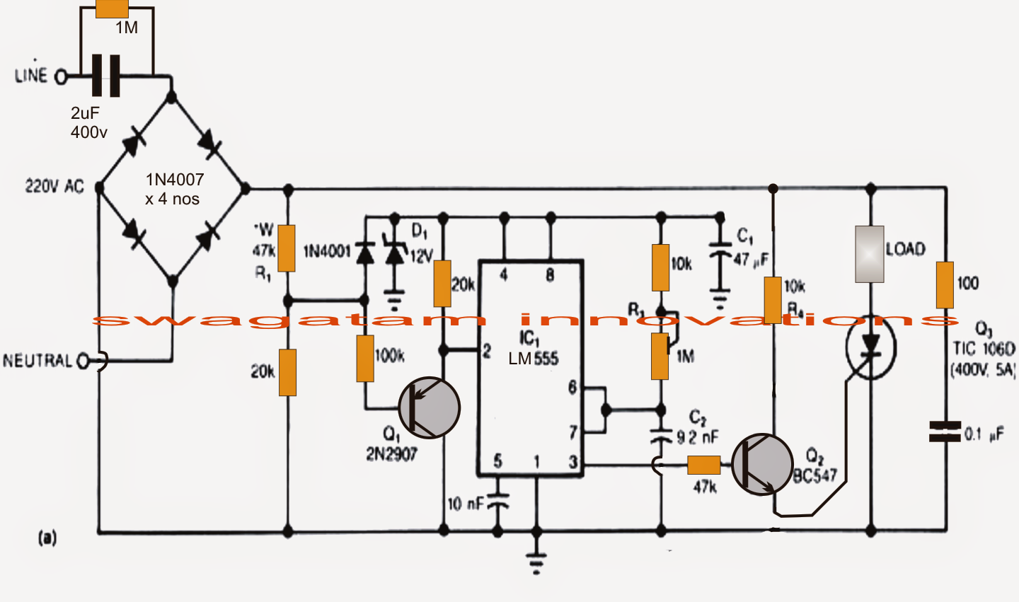 Pin By Km Faisal On A1 Pinterest Power Supply Circuit Ic 555 Diagram A Simple Yet Smart Solution Is Implemented Here Using In Its Monostable Mode To Control Rush Surge Transfomerless Via Zero